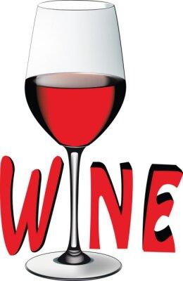 Naklejka bicchiere di vino rosso