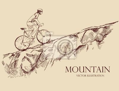 Bicyclist górach Jazda