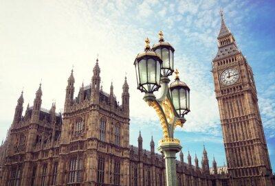 Naklejka Big Ben i domy Parlamentu w Londynie