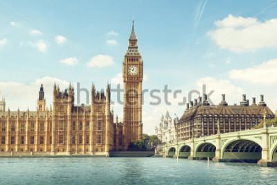 Naklejka Big Ben in sunny day, London