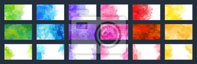 Naklejka Big bundle set of bright vector colorful watercolor background for poster, brochure, card or flyer