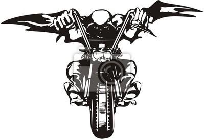 Biker na motocykl.