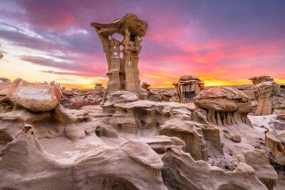 Naklejka Bisti Badlands, New Mexico, USA