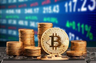 Naklejka Bitcoin.