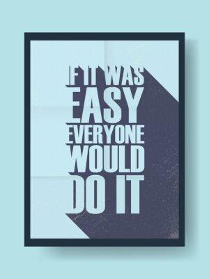 Naklejka Biznes motywacyjny plakat o ciężkiej pracy kontra lenistwo na vintage wektora tle. Długi cień wiadomość typografii