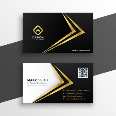 black and gold premium luxury business card design