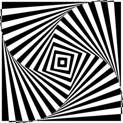 Naklejka Black and White Optical Illusion ilustracji wektorowych.