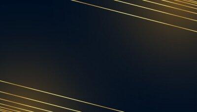 black dark background with golden lines design