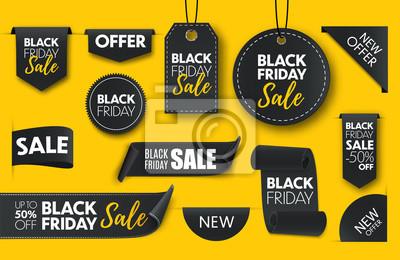 Naklejka Black friday sale banners