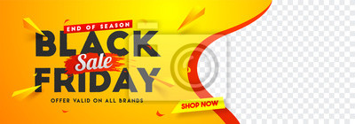 Naklejka Black Friday sale website banner design with space for your product image.