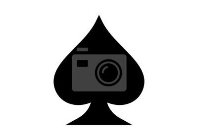 Naklejka Black Spade As Playing Cards Illustration Logo Silhouette