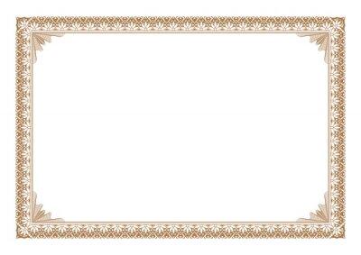 Naklejka Blank Certificae border, ready add text, in gold color