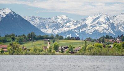 Naklejka Blick über den Riegsee in die bayrischen Alpen