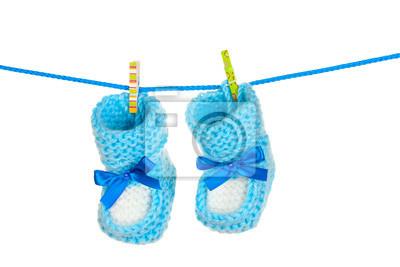 blue baby botki niebieski samodzielnie na białym tle