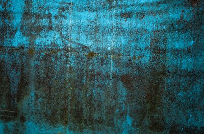 Blue Grunge Rough Rusty Old Painted Metal Surface Texture Background