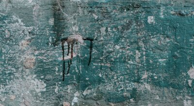 Blue Old Grunge Rough Wall Surface Texture Background