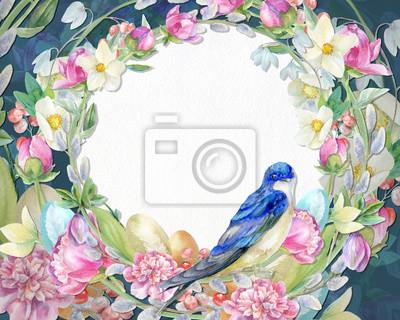 Blue spring frame