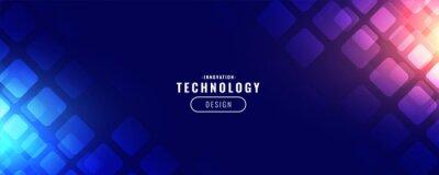 Naklejka blue technology digital banner design
