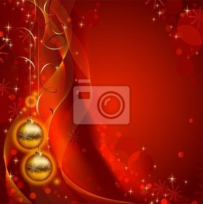 Błyszczące tło Christmas z dwóch wieczornych kulkami