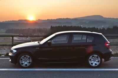 Naklejka BMW Sonnenuntergang Zachód