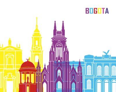 Naklejka Bogota skyline pop
