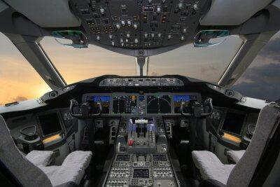 Naklejka Boing 787 Dreamliner, w kokpicie