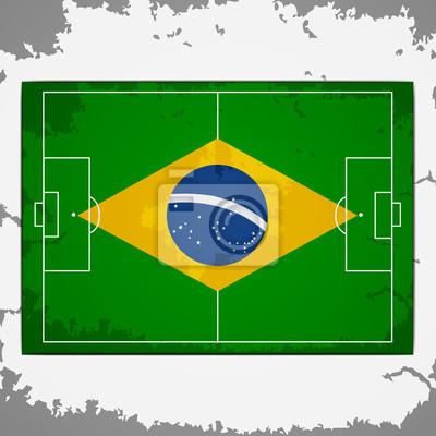 Boisko do piłki nożnej brazylia grunge