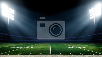 Naklejka Boisko piłkarskie ze światłami stadionu