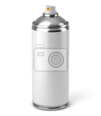 Bombe aérosol sur fond blanc 1
