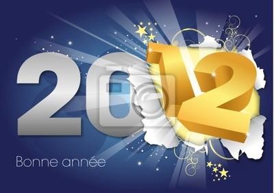 Bonne Année 2012 - Carte de voeux