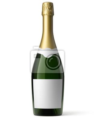 Bouteille de champagne sur fond blanc 1