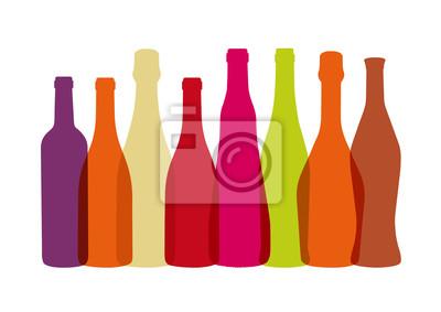 Bouteilles de multicolores Vins