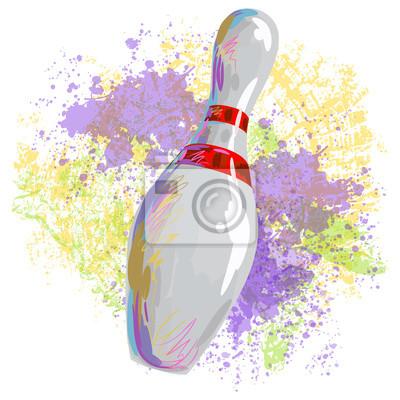 Bowling Pin Wszystkie elementy są w oddzielnych warstwach i pogrupowane.