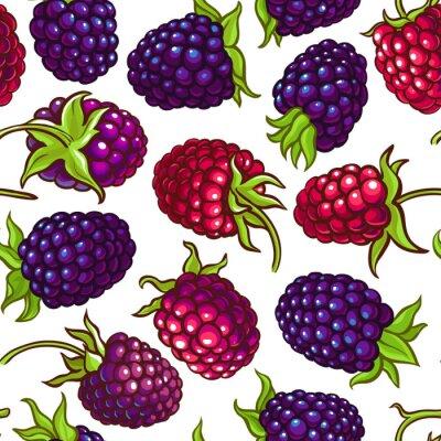 Naklejka boysenberry vector pattern