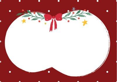 Boże Narodzenie czerwone tło z białym polkadot spac