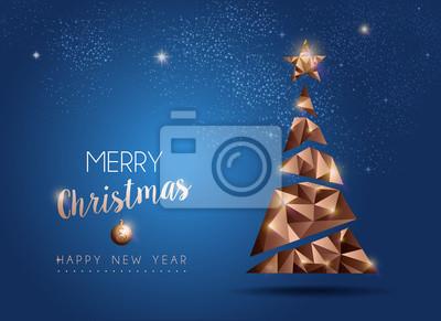 Boże Narodzenie i nowy rok luksusowe sosny karty