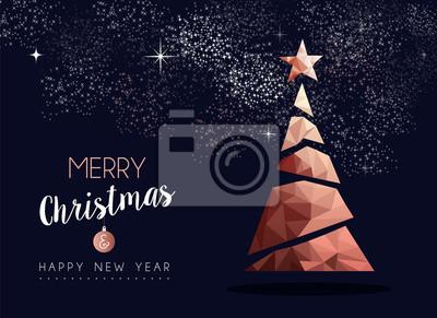 Boże Narodzenie i nowy rok miedziany luksusowy kartkę z życzeniami