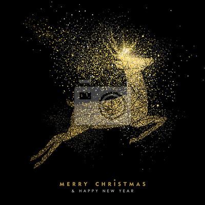 Boże Narodzenie i Nowy Rok święto złota brokat