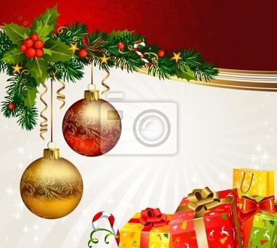 Boże Narodzenie pola pod gałęzi jodły