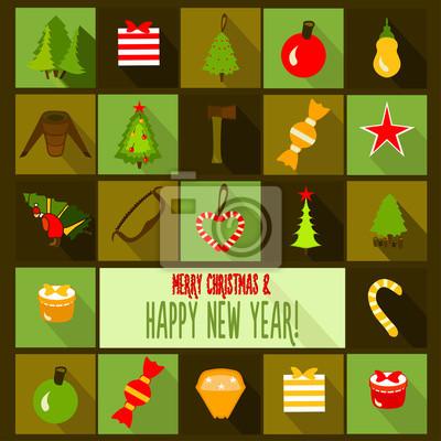 Boże Narodzenie szablon karty.