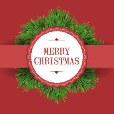 Naklejka Boże Narodzenie w tle