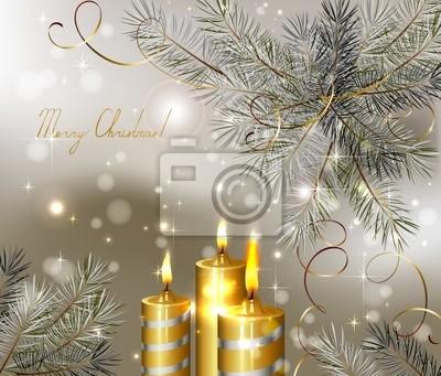Boże Narodzenie z płonących świec