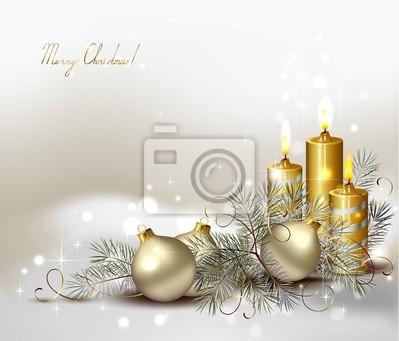 Boże Narodzenie z płonących świec i Christmas cacko