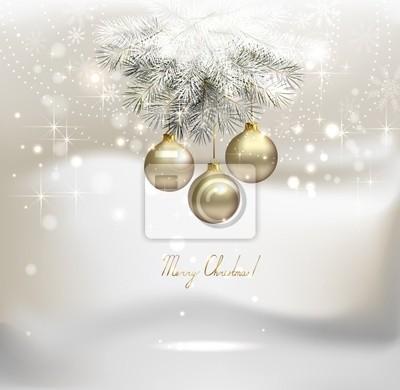 Boże Narodzenie z srebrnymi kulkami wieczornych