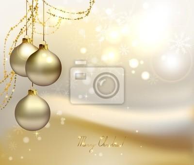 Boże Narodzenie z trzech wieczornych kulkami