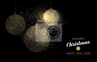 Boże Narodzenie złota brokat sztuka urlop dekoracji karty