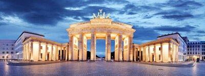 Naklejka Brama Brandenburska, Berlin, Niemcy - Panorama