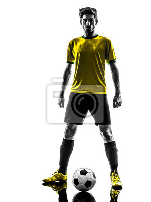 Brazilian soccer piłkarz młody człowiek opór sil