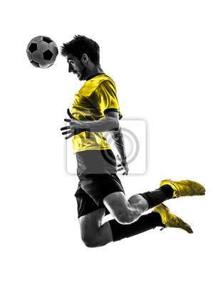 Brazilian soccer piłkarz młody człowiek pozycji sylwetkę