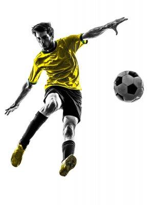 Brazilian soccer piłkarz młody człowiek sylwetka